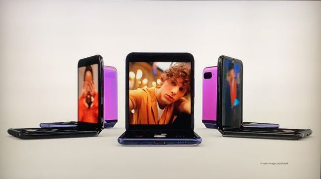 Snap from Samsung Galaxy Z Flip's TV ad