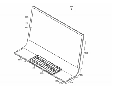 The new Apple iMac patent registered by Apple Inc. with the United States Patent Trademark Office (USPTO).